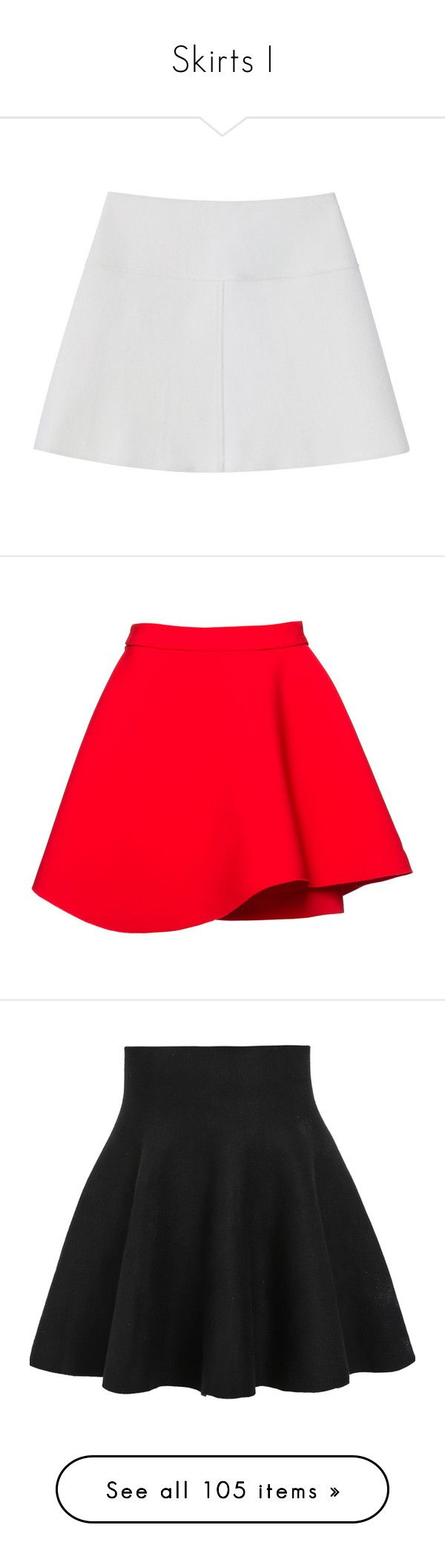"""Skirts I"" by yendry-mariela-garcia-perez ❤ liked on Polyvore featuring skirts, bottoms, saias, gonne, women, red flared skirt, red circle skirt, red pencil skirt, pencil skirt and red asymmetrical skirt"
