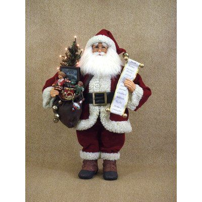 Crakewood Lighted Vintage Gift Bag Santa Claus Figurine * This is an Amazon Affiliate link. Visit the image link more details.