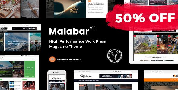 Malabar - High Performance WordPress Magazine Theme