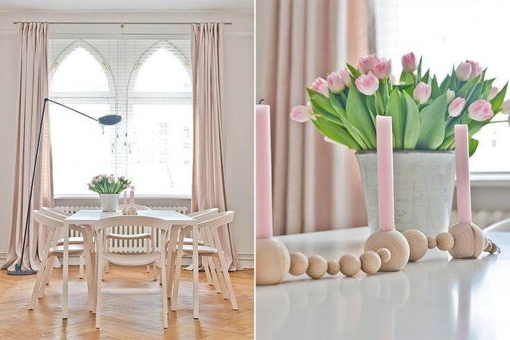 Mieszkanie Konstancji urządzone w stylu skandynawskim - dominują jasne kolory, naturalne drewno, proste meble - Dom