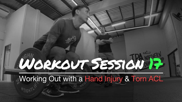 Working Out with a Hand Injury and Torn ACL - Workout Session 17 As for this workout, I had a two-week layoff because my wife and I were in Hanoi, Vietnam.  We tried something new with the trap bar deadlift.