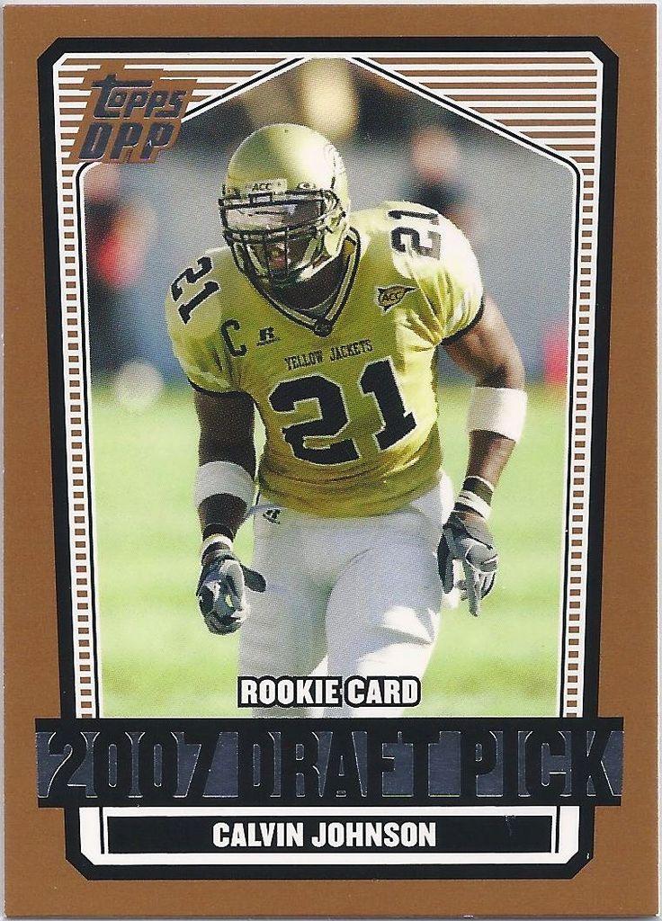 Calvin Johnson (Rookie) Detroit Lions 2007 Topps Draft Picks & Prospects Card #132