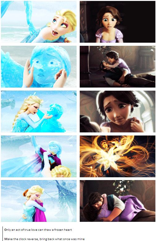 Frozen and Tangled [gifset]  I must amit i looked a lot like elsa in the first panel when anna froze.