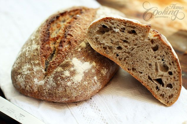 Sourdough Barley Bread :: Home Cooking Adventure