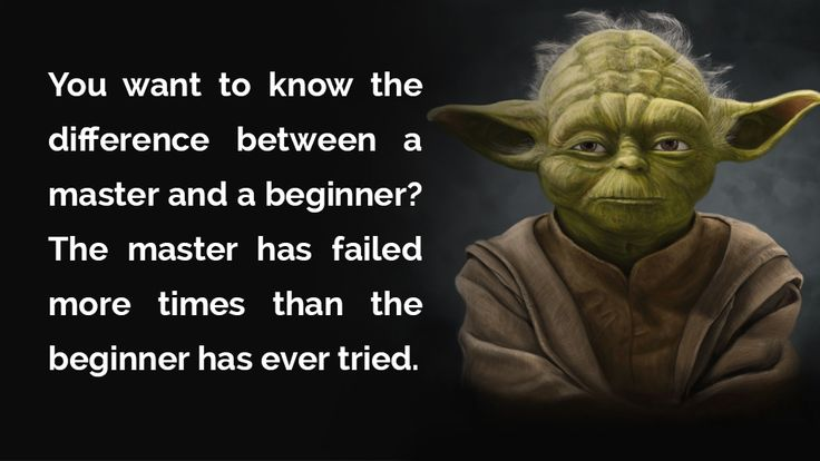 Difference between a master and a beginner
