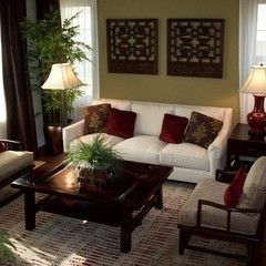 asian living room by Kelly Smiar Interior Design