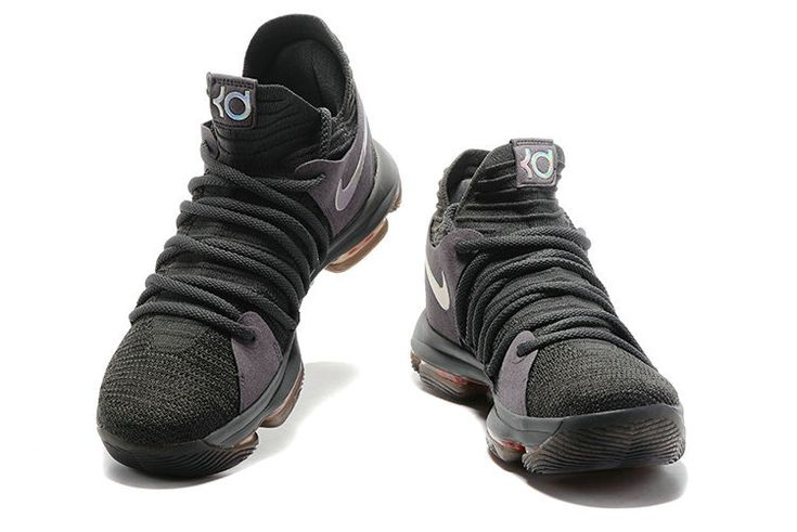 d6b10a2aa813 order real 2018 nike kd 10 dark grey silver orange mens basketball shoes  2018 for sale