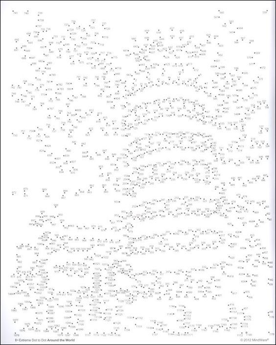 extreme dot to dot printables 1000 dots car pictures