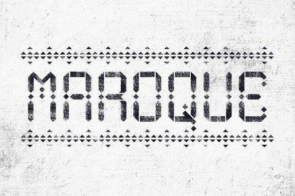Maroque Stencil Font by Hello Mart on Creative Market