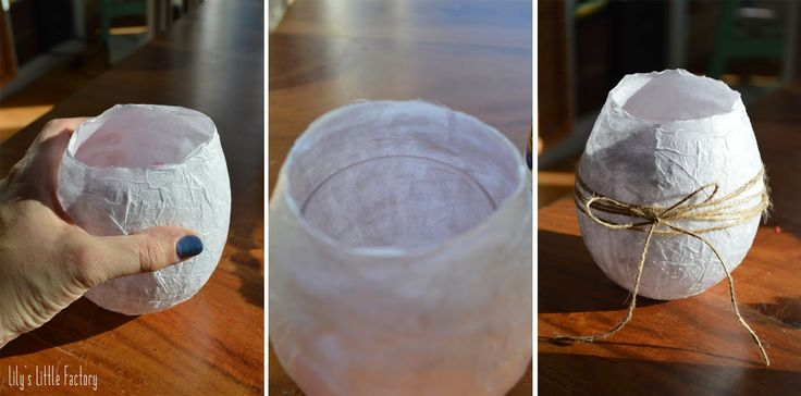 Lily's Little Factory: {Table De Pâques} Un Vase Imitation Oeuf d'Autruche (ou Dinosaure)