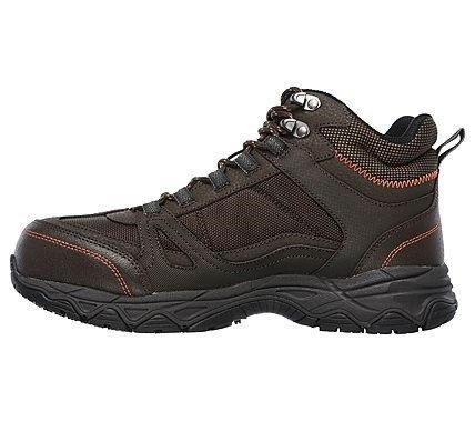 Skechers Work Men's Ledom Waterproof Steel Toe Work Boots (Brown)
