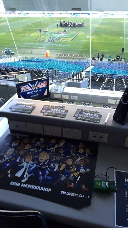 NRL Bulldogs ANZ Stadium DOG BOX