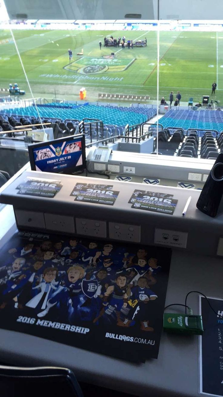 NRL Bulldogs ANZ Stadium DOG BOX