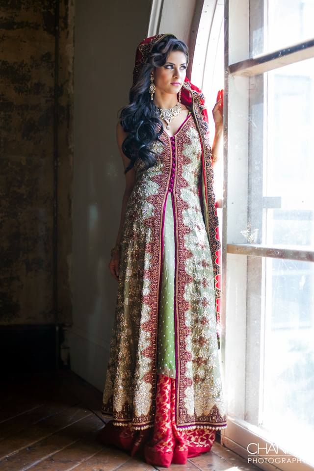 Beautiful lengha  by Sabz Couture ~ Photo: Channa Photography
