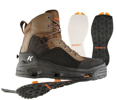 Korkers BuckSkin Wading Boot �� FREE shipping with NO Sales Tax from the Caddis Fly Shop   Brand new line up from the excellent design and testing team at Korkers.   Korkers BuckSkin wading boots  should be available in early December 2013.    Korker��s new  BuckSkin wading boots  is totally new and adds a new option with high performance and comfort at an affordable price point   The  BuckSkin wading boot  offers many features making it an outstanding value.  The  BuckSkin wading boot  has…