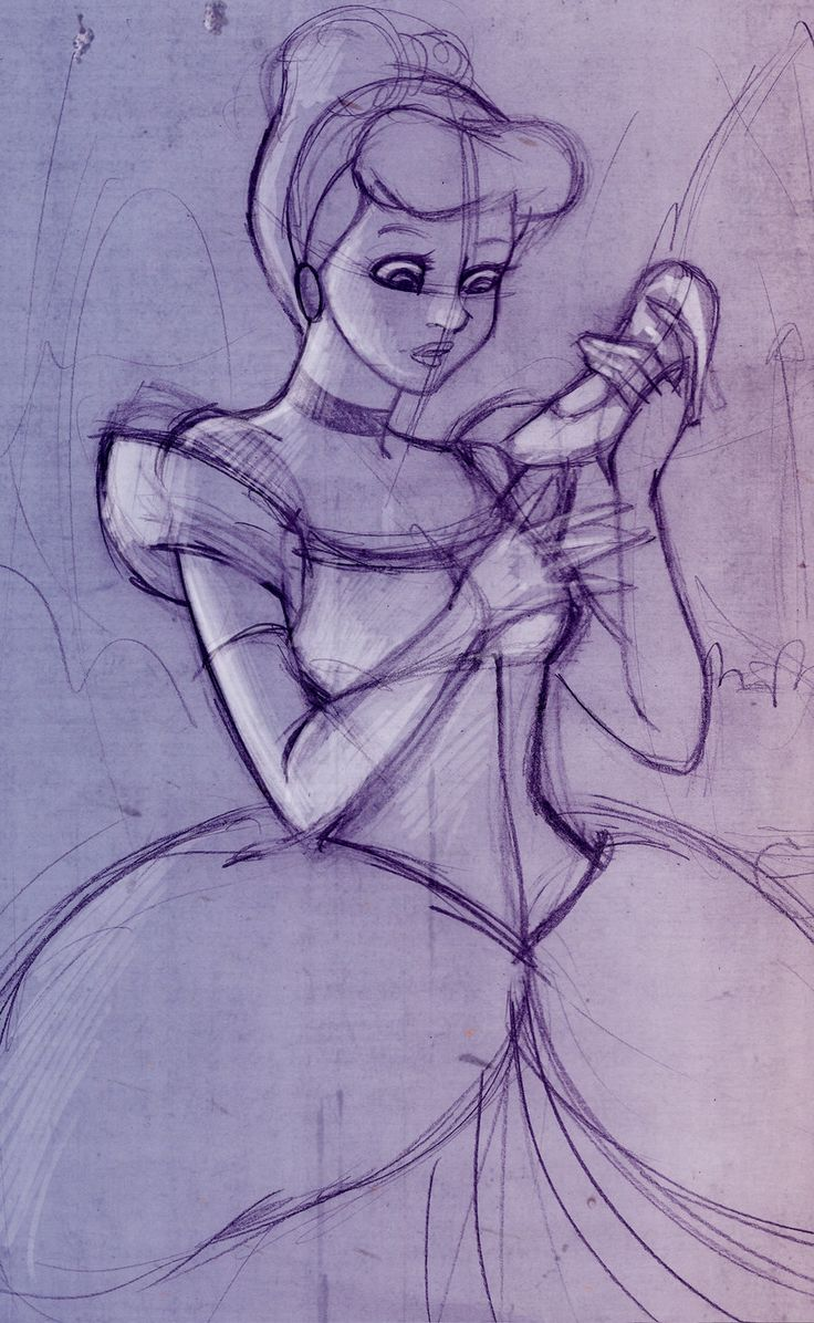 Cinderella sketch by *VPdessin on deviantART except without the animi eyes :p