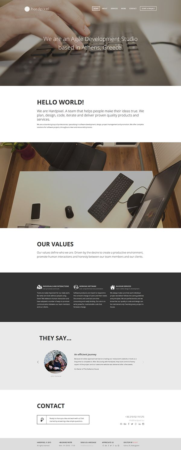 Hardpixel Website Design & Development on Behance