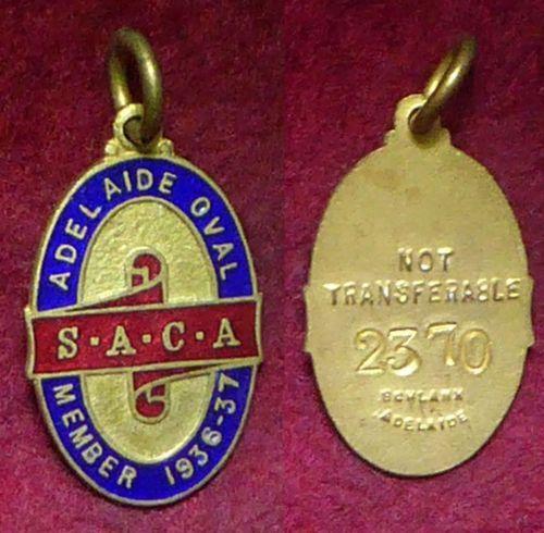 1936-37-South-Australian-Cricket-Association-Members-Badge
