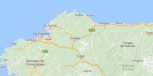 Como llegar de Lugo a Vivero - Calcular Ruta