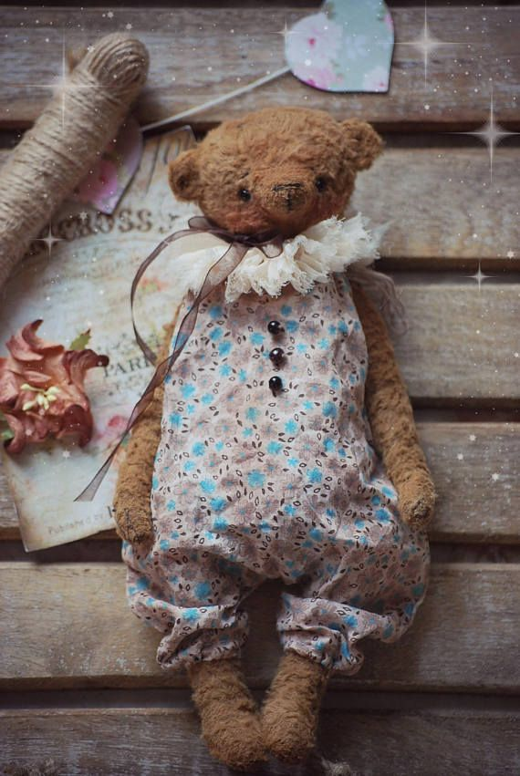 Vincent :) OOAK Vintage Style Sweet Artist Teddy Bear by Natali Sekreta -  Antique style  - stuffed - home decor - gift - Birthday