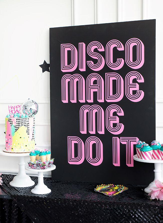 Retro Roller Disco Birthday Party