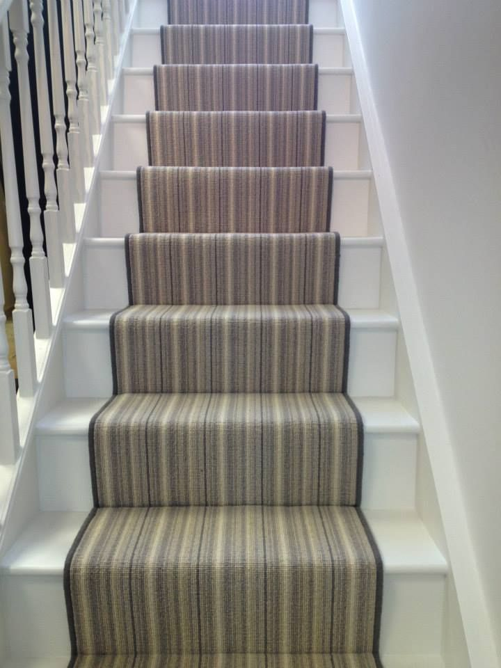 Stair runner installed by The Fine Flooring