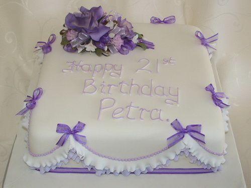 simple square cake 21st birthday   Birthday Cakes   Pinterest