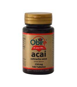 Acaí 250 mg - 100 tabletas - Obire - Antioxidante El Açaí (pronunciado Asaí), conocido en España como acai o acaí, es una baya de color purp...