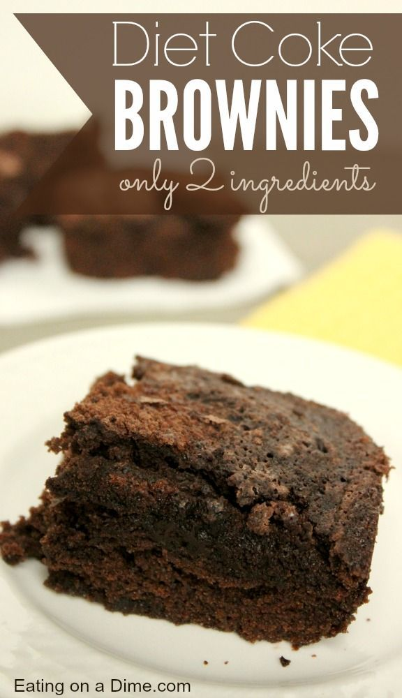 Diet Coke Brownies are crazy easy to make - you need just two ingredients - a Box of brownies and a can of diet coke. They are delicious!