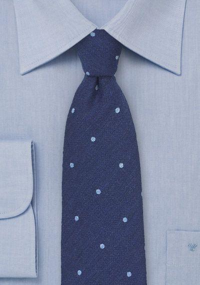 Navy and Light Blue Wool Polka Dot Tie, $39.90 | Cheap-Neckties.com