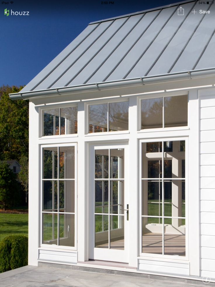 Pin by tony russo on roof siding pinterest metal for Modern glass porch designs