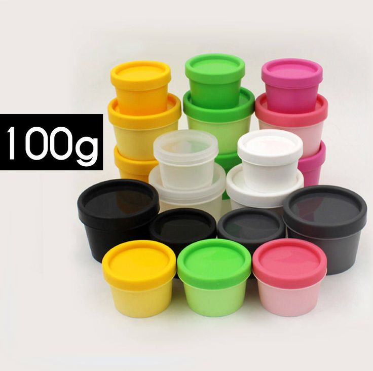 50 pcs (100g) Plastic Jar, Pot, Bottle with Lid & Disc Liner - Skincare Face Cream, SPA Bath, Food Packaging