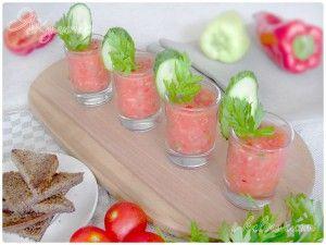 Острый суп гаспачо из помидоров и перца