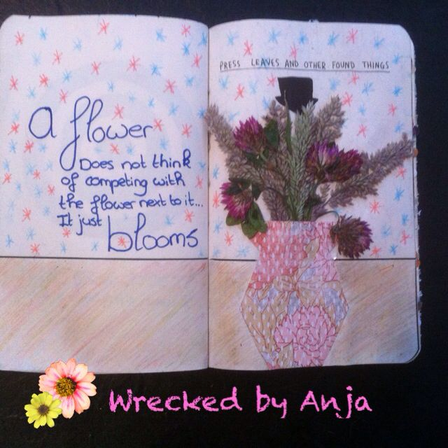 Press leaves and other found things - Wrecked by Anja