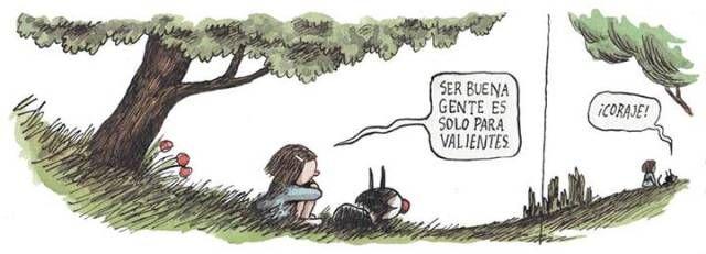 Liniers: Ser buena gente es solo para valientes ¡Coraje!