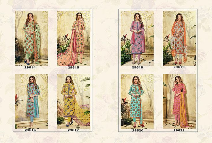 Indian Ethnic Designer Salwar Kameez Cotton Multi Flower Embroidery Stylish Suit #RadhaKrishnaExports #Indian