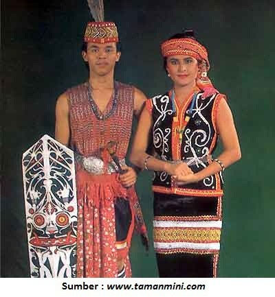 Traditional Costumes from West Kalimantan (Borneo) - Indonesia