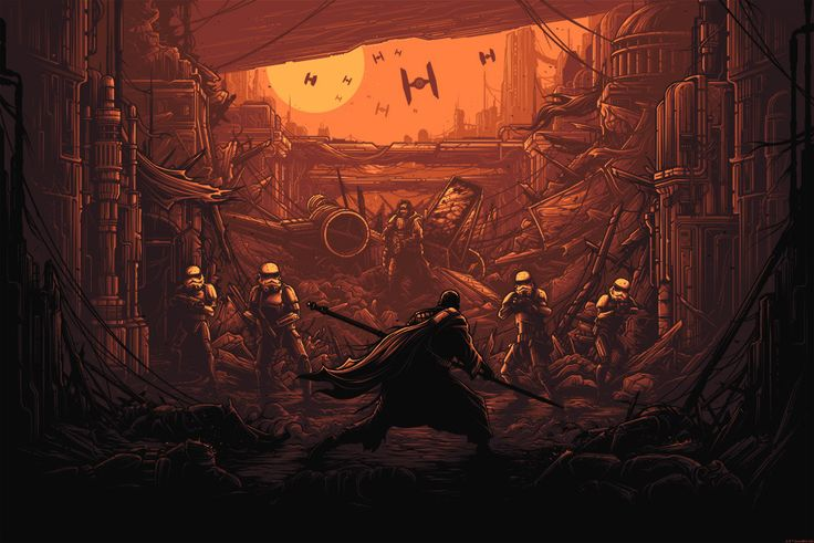 I Am One With The Force... by Dan Mumford   Rogue One: A Star Wars Story – Dark Ink