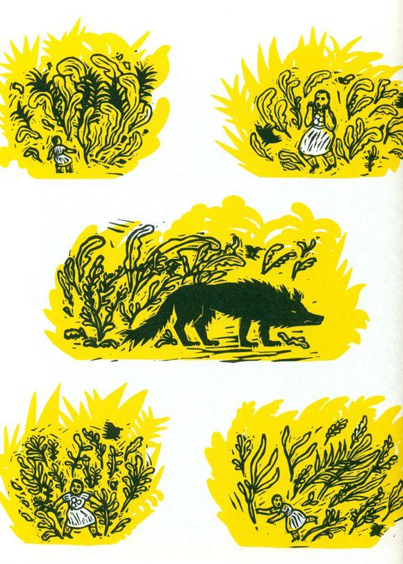 Ilustración de Isabelle Vandenabeele para la obra El cuentacuentos, de Saki.