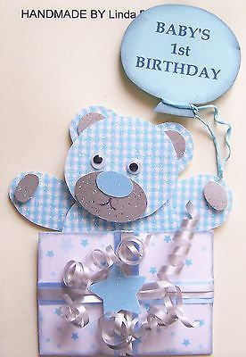 3d baby's 1st birthday card #craft #topper, embellishment #1stbd-boy, View more on the LINK: http://www.zeppy.io/product/gb/2/251675510713/