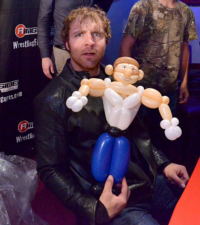 WWE Superstars and Mattel attend Ringside Fest 2014 .... Love tht look on his face.