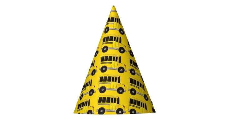 Big Yellow School Bus Education Teacher Bus Driver Party Hat