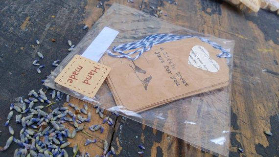 Vintage Style Gift Tags 6pc 'A Little Treat Just for You' 2