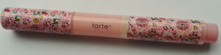 New (swatched on back of hand)  tarte  plumping lip gloss in Dollface