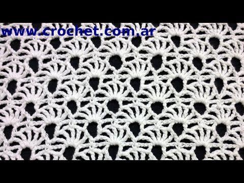 Punto Fantasía N° 73 en tejido crochet tutorial paso a paso. - YouTube