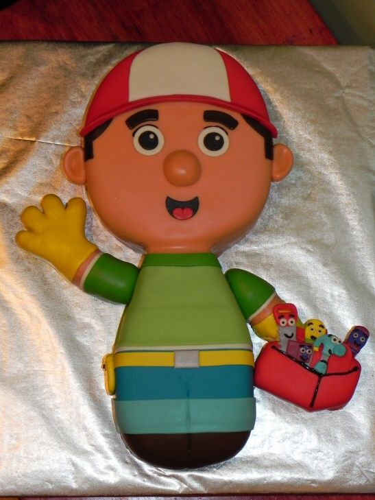 The cake Jacob picked out 3 days before his party, lets see if i can make it!! Handy Manny Cake