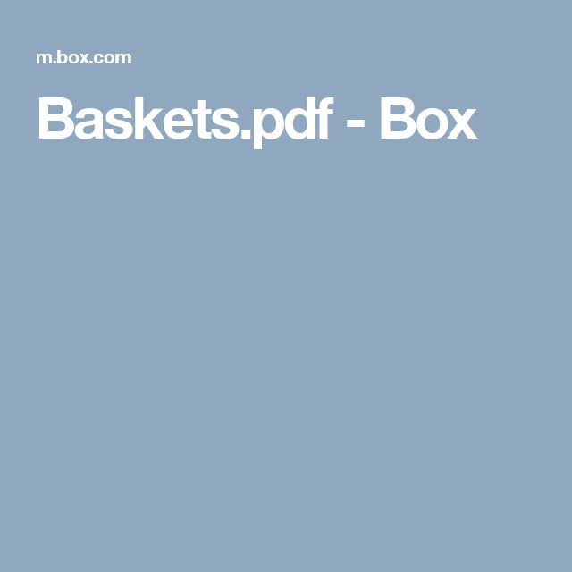 Baskets.pdf - Box