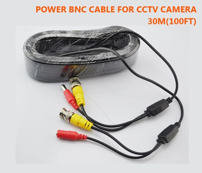 24.43$  Watch here - http://alihxe.shopchina.info/go.php?t=32219604441 - CCTV Cable 30M 100ft for Security Camera BNC connector + DC plug Video Power wires CCTV Accessories  #magazine