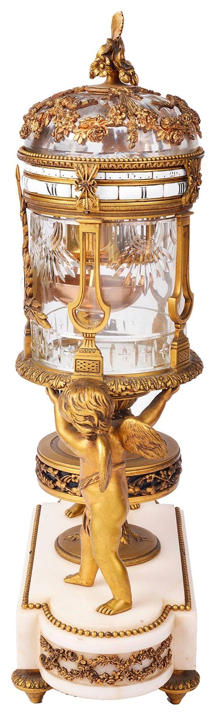 19th Century Revolving Mantel Clock 4