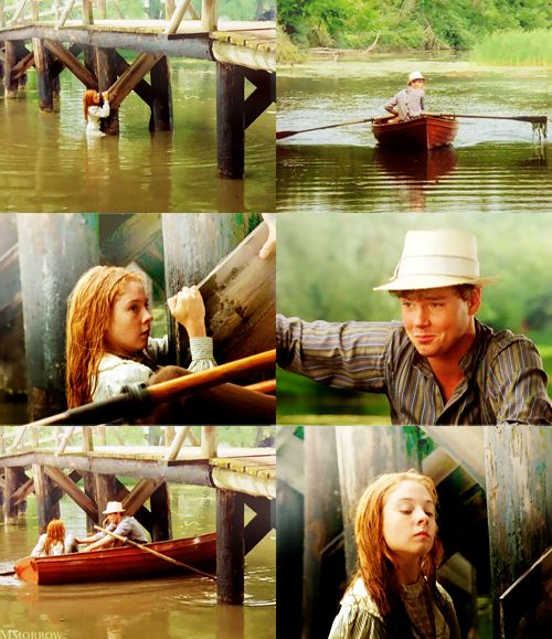 Gilbert: Anne Shirley.   What in heck are you doing?  Anne: Fishing for lake trout.  Gilbert: …For lake trout. Ah.    {love this scene SO much <3<3}